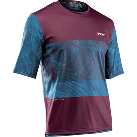 Northwave Xtrail MTB Short Sleeve Jersey Men blue/bordeaux